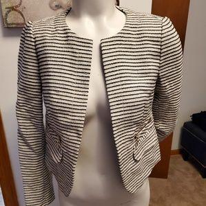 Ann Taylor Loft striped blazer jacket